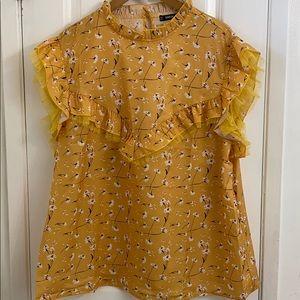 5/25 SHEIN yellow sleeveless top